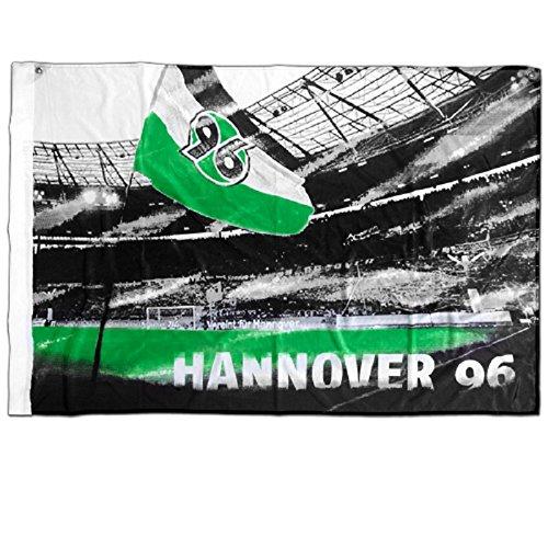 Hannover 96-Zimmerfahne mit der HDI-Arena - Fahne - Zimmerfahne - Hannover 96