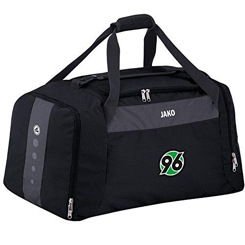 Jako Hannover 96 Sporttasche Striker m. seitl. Nassf. - schwarz/grau