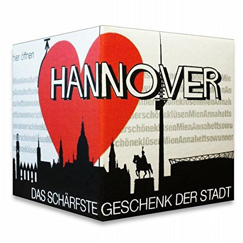 I Love Hannover - Das schärfste Geschenk der Stadt! Ein kleines Souvenir in der praktischen Box.