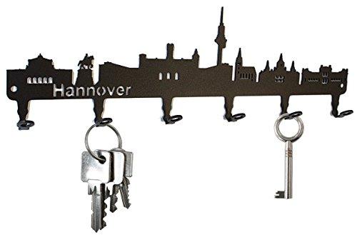 Schlüsselbrett / Hakenleiste * Skyline Hannover * - Schlüsselboard Niedersachsen, Schlüsselleiste, Metall - 6 Haken