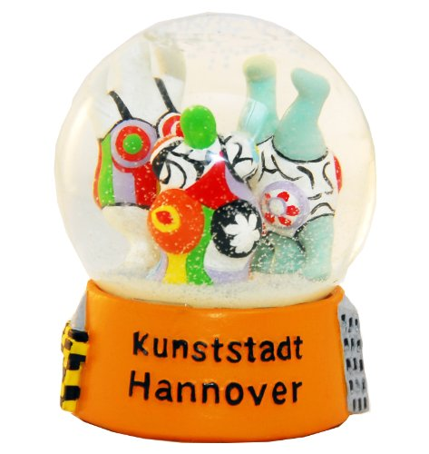 Souvenir Schneekugel Kunststadt Hannover Nanas 30002