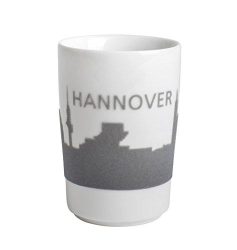 """Kahla 394605A26516C Maxi-Becher, 0,35 L, Five Senses touch,""""Hannover"""", grau"""